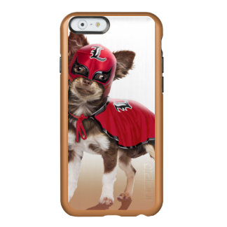 Funda Para iPhone 6 Plus Incipio Feather Shine Perro del libre de Lucha, chihuahua divertida,