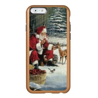 Funda Para iPhone 6 Plus Incipio Feather Shine Pintura de Papá Noel - arte del navidad