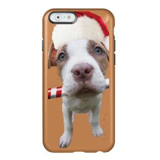 Funda Para iPhone 6 Plus Incipio Feather Shine Pitbull del navidad - pitbull de santa - perro de