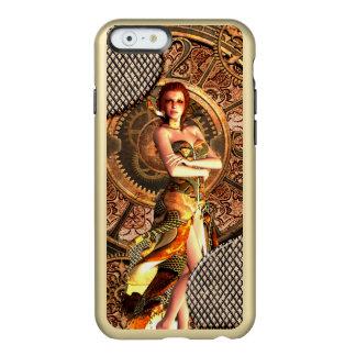 Funda Para iPhone 6 Plus Incipio Feather Shine Steampunk, mujeres hermosas del vapor con los