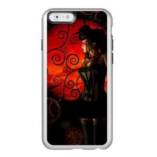 Funda Para iPhone 6 Plus Incipio Feather Shine Steampunk, señora maravillosa del steampunk en la