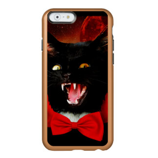 Funda Para iPhone 6 Plus Incipio Feather Shine vampiro del gato - gato negro - gatos divertidos