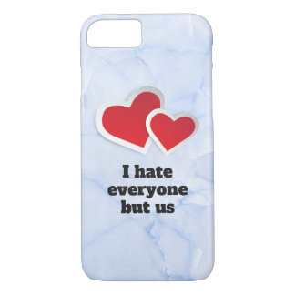 Funda Para iPhone 8/7 2 corazones rojos - odio cada uno pero nos