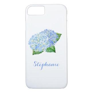 Funda Para iPhone 8/7 Acuarela azul del Hydrangea