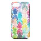 Funda Para iPhone 8/7 Acuarela tropical del modelo hawaiano de la piña