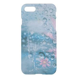 Funda Para iPhone 8/7 Agua hermosa y caso de cristal que cae de los