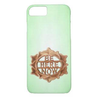 Funda Para iPhone 8/7 Ahora esté aquí en verde con resplandor interno