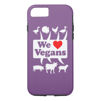 Funda Para iPhone 8/7 Amamos a los veganos II (blancos)
