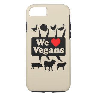 Funda Para iPhone 8/7 Amamos a veganos II (el negro)