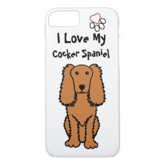 Funda Para iPhone 8/7 Amo mi caja del teléfono de cocker spaniel