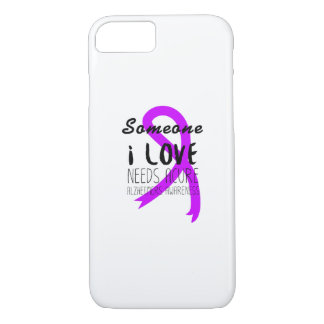 Funda Para iPhone 8/7 Amor púrpura de la ayuda de la cinta de la