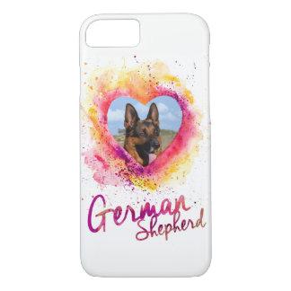 Funda Para iPhone 8/7 Añada su perro de pastor alemán de la foto - GSD