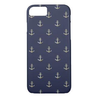 Funda Para iPhone 8/7 Ancla náutica de los azules marinos