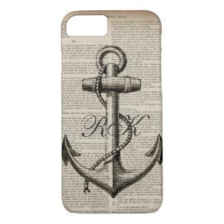 Funda Para iPhone 8/7 ancla náutica del vintage del marinero de la playa