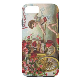 Funda Para iPhone 8/7 Ángel del día de San Valentín del vintage, carro