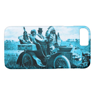 Funda Para iPhone 8/7 APACHES Y GERONIMO QUE CONDUCEN un azul del trullo