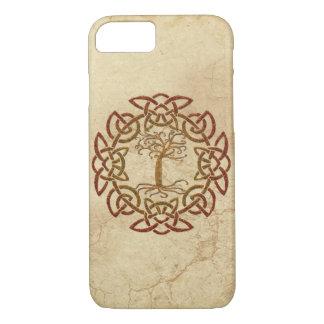 Funda Para iPhone 8/7 Árbol céltico de Viking del círculo de la caja del