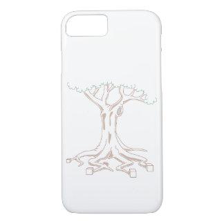 Funda Para iPhone 8/7 Árbol con las raíces cúbicas