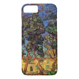 Funda Para iPhone 8/7 Árboles de Van Gogh en el jardín, hospital de