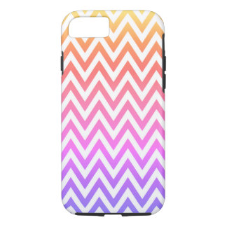 Funda Para iPhone 8/7 Arco iris en colores pastel Chevron