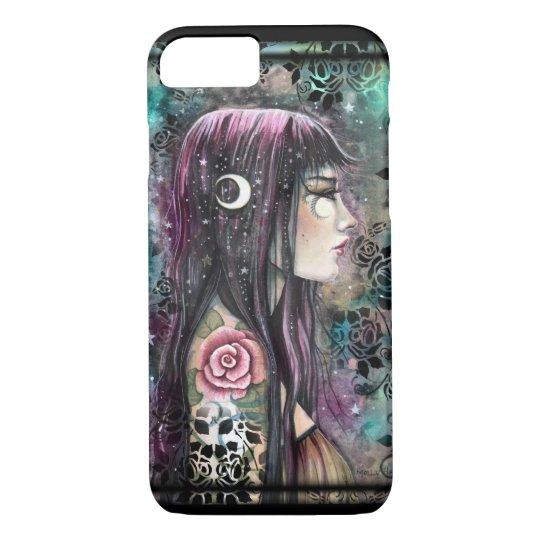 Funda Para iPhone 8/7 Arte bohemio gótico de la fantasía del chica del