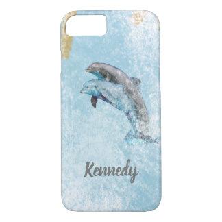 Funda Para iPhone 8/7 Arte costero de salto del tema de los delfínes