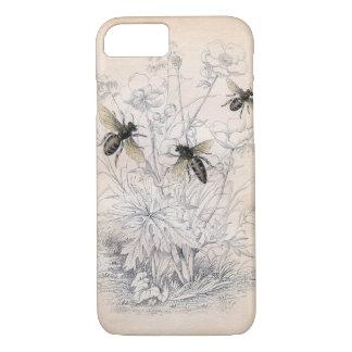 Funda Para iPhone 8/7 Arte de la abeja de la miel del vintage