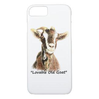 """Funda Para iPhone 8/7 Arte del animal del campo de la """"cabra vieja"""
