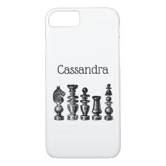Funda Para iPhone 8/7 Arte del vintage de los pedazos de ajedrez