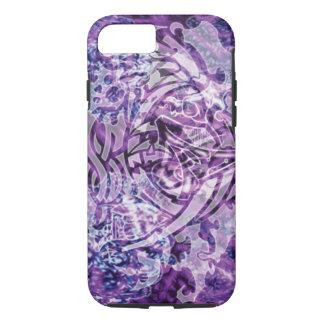 Funda Para iPhone 8/7 Arte, púrpura y blanco tribales abstractos de