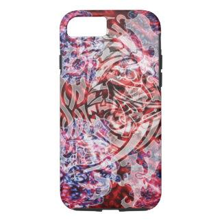 Funda Para iPhone 8/7 Arte, rojo y blanco tribales abstractos de