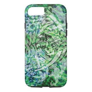 Funda Para iPhone 8/7 Arte, verde y blanco tribales abstractos de