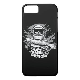 Funda Para iPhone 8/7 Astronauta que pesca la caja brillante del