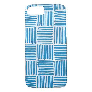 Funda Para iPhone 8/7 Azul de Boho del modelo del arte abstracto