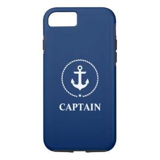 Funda Para iPhone 8/7 Azules marinos náuticos de capitán Anchor