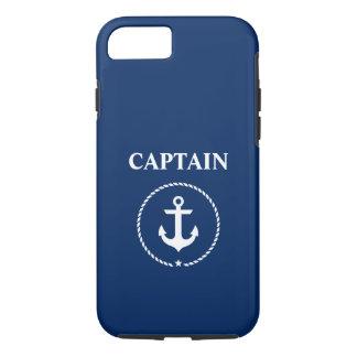 Funda Para iPhone 8/7 Azules marinos náuticos de capitán Anchor Rope
