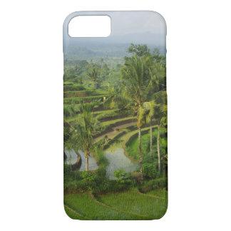 Funda Para iPhone 8/7 Bali - ricefields y palmas jovenes de la terraza