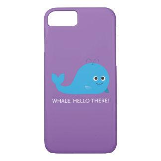 Funda Para iPhone 8/7 ¡Ballena, hola allí! Caja del teléfono