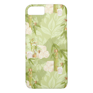 Funda Para iPhone 8/7 Balneario verde, yoga, entrenamiento, bambú