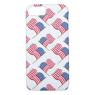 Funda Para iPhone 8/7 Bandera americana 4ta del azul blanco rojo de
