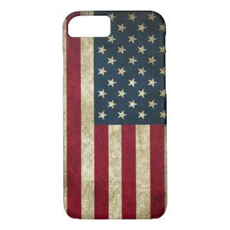 Funda Para iPhone 8/7 Bandera americana de los E.E.U.U. del Grunge