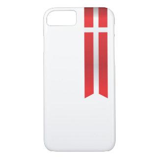 Funda Para iPhone 8/7 Bandera de Dinamarca, caja danesa del teléfono de