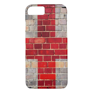 Funda Para iPhone 8/7 Bandera de Inglaterra en una pared de ladrillo