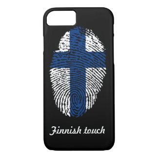 Funda Para iPhone 8/7 Bandera finlandesa de la huella dactilar del tacto
