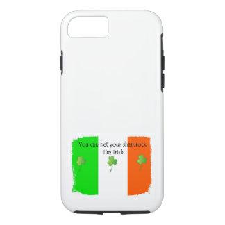 Funda Para iPhone 8/7 Bandera irlandesa con los tréboles