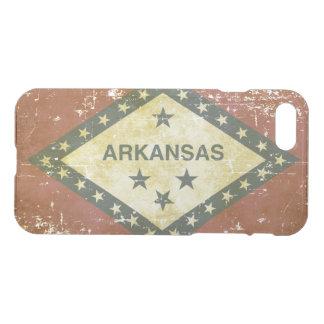 Funda Para iPhone 8/7 Bandera patriótica gastada del estado de Arkansas
