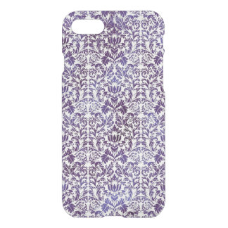 Funda Para iPhone 8/7 Batik oscuro elegante del damasco de la púrpura