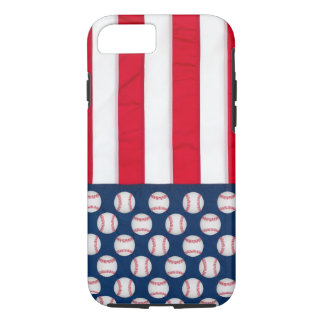 Funda Para iPhone 8/7 Béisbol y caja del teléfono de la bandera