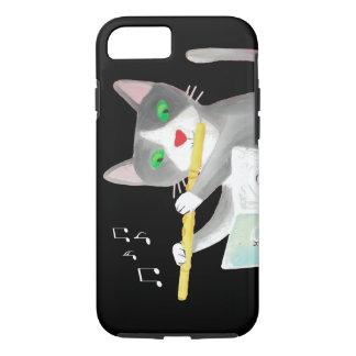 Funda Para iPhone 8/7 Benny el gato del jugador de flauta