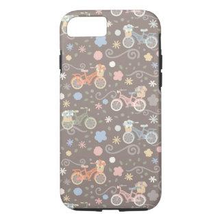 Funda Para iPhone 8/7 Bicicleta y flores retras